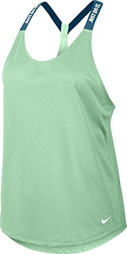 Nike Women's Dry Elastika Tank - Large - Fresh Mint/Smokey Blue