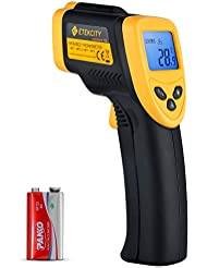 Etekcity Infrared Thermometer 774 (Not for Human) Temperature Gun Non-Contact Digital Laser Thermometer-58℉ to 716℉ (-50 to 380℃), Standard Size, Black & Yellow