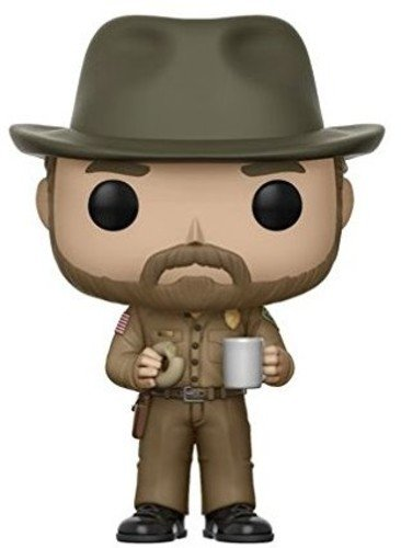 - Funko Pop Television: Stranger Things - Hopper with Donut (Styles May Vary) Collectible Figure