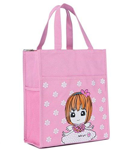 YChoice - Bolso de mano para escuela, material didáctico, color rosa, gran ojo para niñas, estudiantes, escuela, tutor,...
