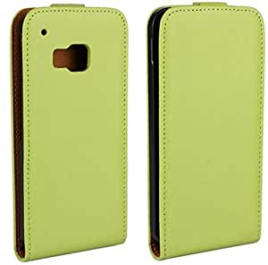 Calans HTC ONE M9 RL Leather Flip Case Cover With Screen Protector -Green