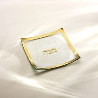 product image for Judaica Gold Rimmed Matza Plate by Annieglass