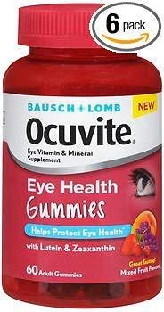 Bausch + Lomb Ocuvite Eye Health Gummies - 60 ct, Pack of 6