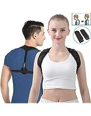 SKEY Haltungskorrektur, Geradehalter Schulter Rückenstütze, ideal zur Therapie für haltungsbedingte Nacken, Rücken und Schulterschmerzen für Damen und Herren(M)+(L)