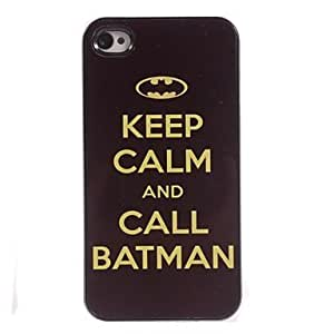 MOM ships in 48 hours Keep Calm And Call Batman Design Aluminum Hard Case for iPhone 4/4S