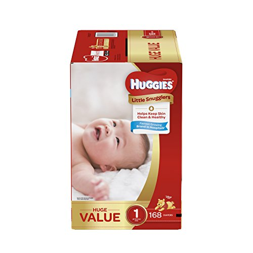 Huggies Little Snugglers Baby Diapers, Size 1, 168 Count, HUGE PACK (Packaging may Vary)