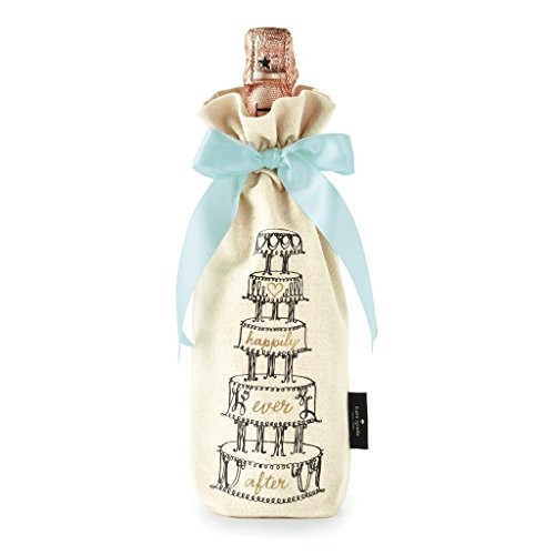 (Kate Spade New York 177538 Happily Ever After Wine Tote, Natural)