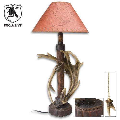 BudK Deer Resin Antler Wood Lamp, Outdoor Stuffs