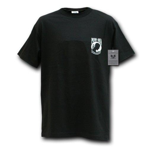 Rapiddominance POW*MIA Military Tee, Black, X-Large