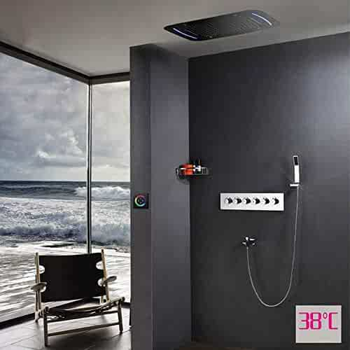 WANPAOPAO Shower sets Bathroom Wall Chrome Shower Faucet With Bathtub Mixer tap Rainfall Shower Head Safe and Energy Saving Bathroom Bathroom Fixtures