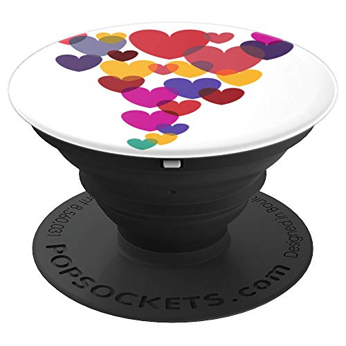 Color Pattern No. 901 My Valentine's Heart Cyclone - PopSockets Grip and Stand for Phones and Tablets