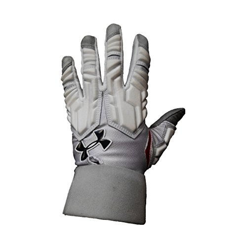 Under Armour Combat III Full Finger Adult Lineman Gloves (Red Bold Pride, 2X-Large)