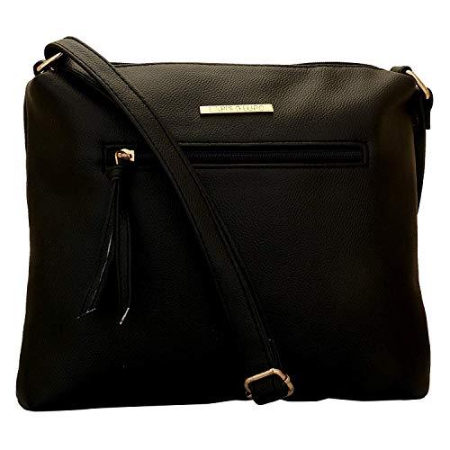 Lapis O Lupo Fumee Sling Bag da donna Nero Design tascabile multifunzionale
