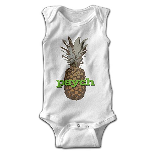Hizhogqul Psych Pineapple Baby Sleeveless Romper Bodysuit Jumpsuit 12 Months White
