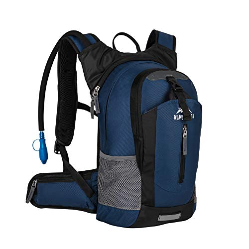 Hydration Daypacks - RUPUMPACK Insulated Hydration Backpack Pack with 2.5L BPA Free Bladder, Lightweight Daypack Water Backpack for Hiking Running Cycling Camping, School Commuter, 18L