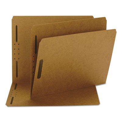 Smead Kraft Fastener Folder Letter - Smead Kraft K Style Fastener Folders, Straight Cut, Top Tab, Letter, Brown, 50/Box