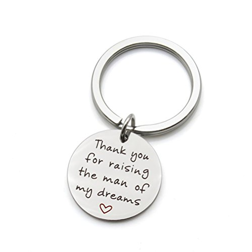 Thank you for raising the man of my dreams Mother in Law Wedding Mother Groom Stainless Steel Keychain Key Ring (Keychains You Thank Wedding)