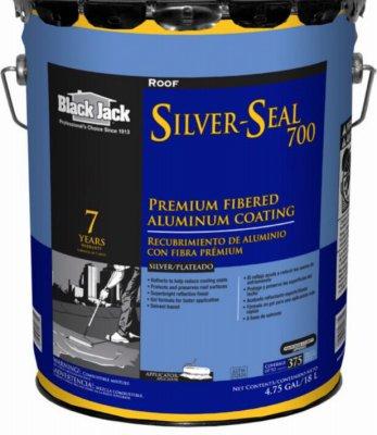 Gardner-Gibson 5177-A-30 Black Jack Silver-Seal 700 Fibered Aluminum Coating, 4.75 Gal