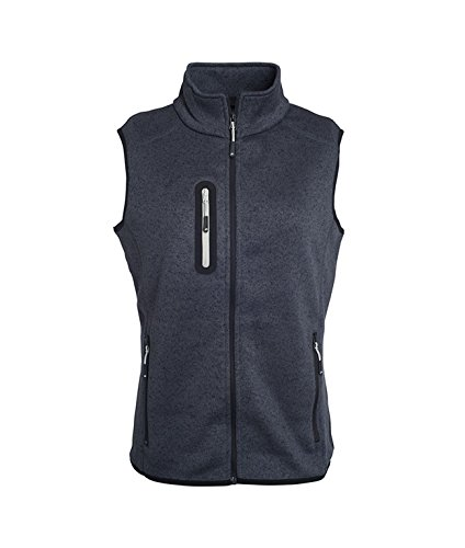 de punto gris lana con oscuro cuello Chaleco de plata melange qp1ScP