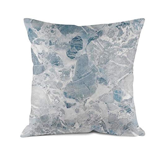 Hymanwasqhft Home Decoration Cushion Cover Blue Marble 100% Cotton Pillow Cover for Sofa, Office, Living Room