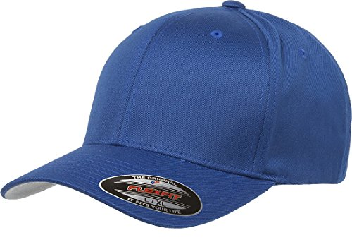 6277 Flexfit Wooly Combed Twill Cap (Royal Youth Visor)