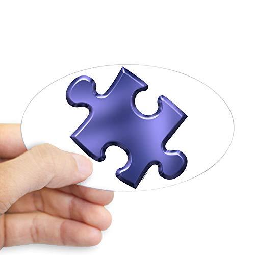 CafePress Puzzle Piece Ala Carte 1.4 (Blue) Oval Sticker Oval Bumper Sticker, Euro Oval Car Decal