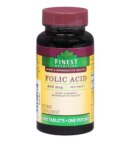 Finest Nutrition Dietary Supplement, 400 Folic Acid Tablets (3 Pack)