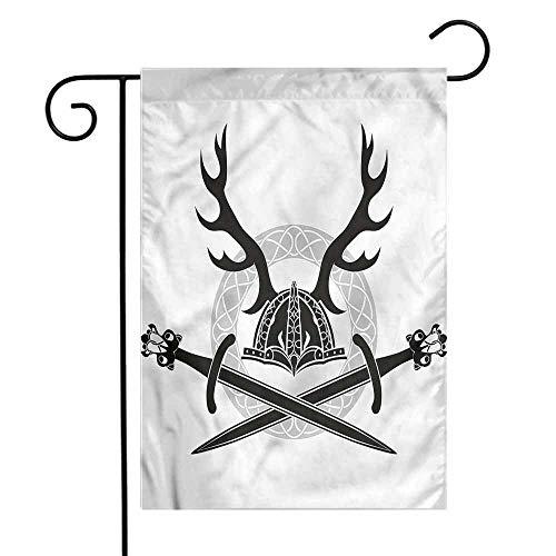 WinfreyDecor Antler Garden Flag Viking Culture Celtic Circle Premium Material 12