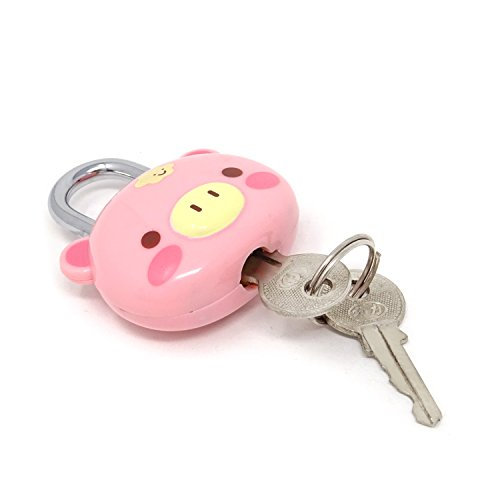 2b2300dc769c Honbay Cute Pink Pig Lock Padlock with Keys for Suitcases, Backpacks and  Lockers