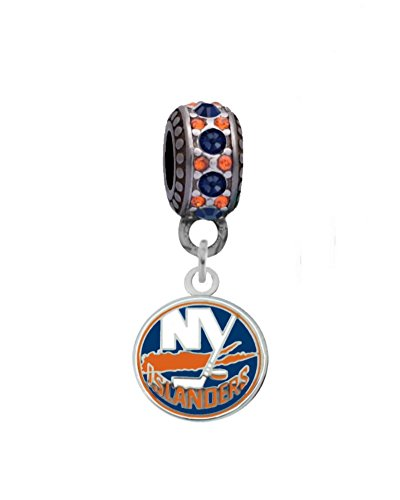 New York Islanders Charm Fits European Style Large Hole Bead Bracelets by Final Touch Gifts