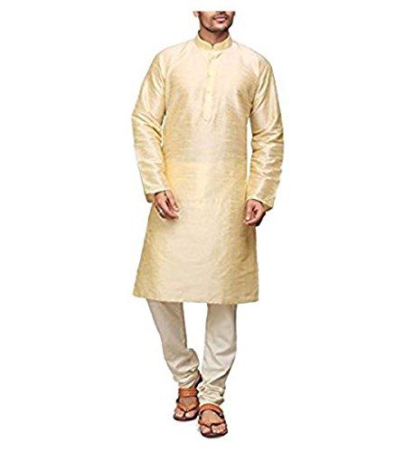 Royal Men's Occassional Silk Blend Kurta Churidar Set