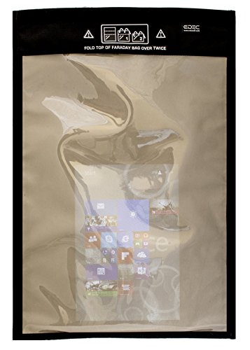 Black Hole Faraday Bag, XL Window Bag with Vector Pocket for Shielded Device Use, Anti-Hacking, Anti-Spying, Secure Device Usage by Black Hole Faraday Bag