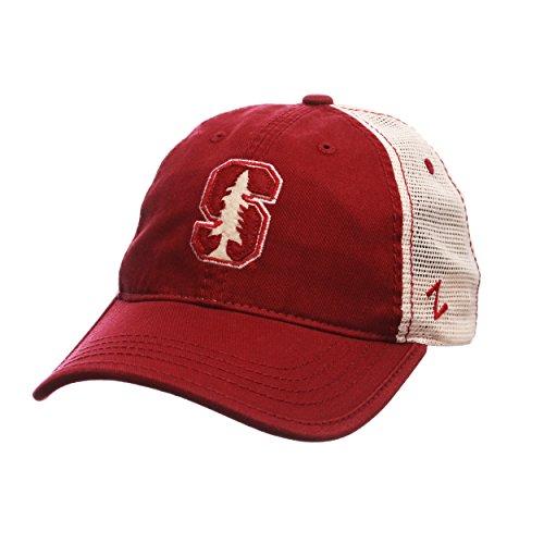 Zephyr NCAA Stanford Cardinal Men's Summertime Hat, Stone/Cardinal, Adjustable