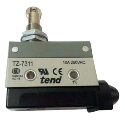 Roller Plunger Actuators - WuLian TZ-7311 Parallel Roller Plunger Actuator Momentary Micro Switch Gray+Black