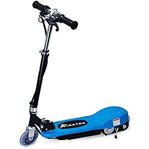 Maxtra Electric Scooter Motorized Scooter bike Rechargeable Battery Light Blue E120