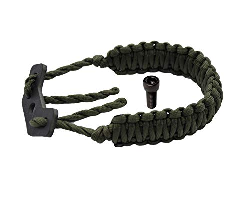 HZUTUZH 250 Paracord Bow Archery Wrist Sling - Multi Functional Survival Compound Bow Wrist Sling for Hunting & Shooting - No Stabilizer Needed - Successive Length Greater Then 600 cm (Green)