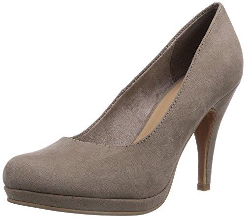 Tamaris 22407 - zapatos de tacón cerrados de lona mujer marrón - Braun (Pepper 923)