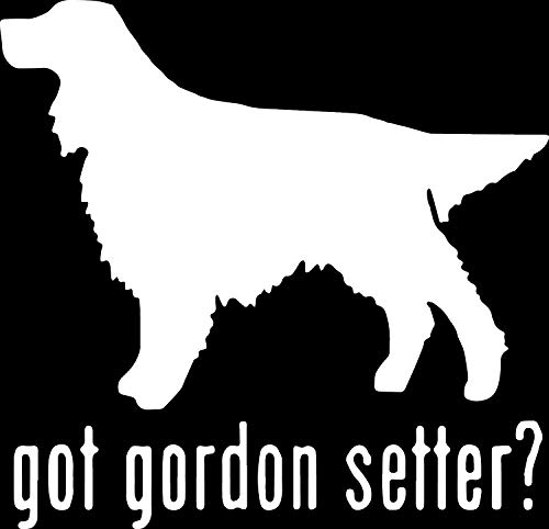 (ANGDEST Animal GOT Gordon Setter Retriever Dog (White) (Set of 2) Premium Waterproof Vinyl Decal Stickers for Laptop Phone Accessory Helmet Car Window Bumper Mug Tuber Cup Door Wall Decoration)
