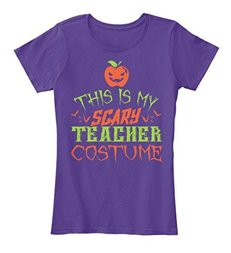 Halloween 1914 Costumes (Teespring Teacher Costume Halloween 2016 - Women's - X-Small - Purple - 100% combed ringspun cotton - T-Shirt)