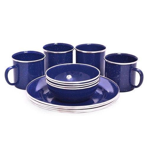 Set de vajilla esmaltada de 12 piezas ideal para picnic y comidas al aire libre OCP-ENDS-D OZtrail