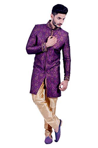 Designer Multi Colored Indian Festivals Indo-Western Sherwani for Men by Saris and Things