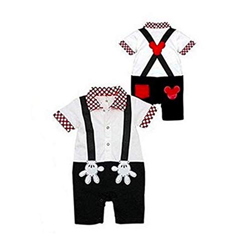 Baby Boy Mickey Mouse Onesie Costume Smart Tuxedo