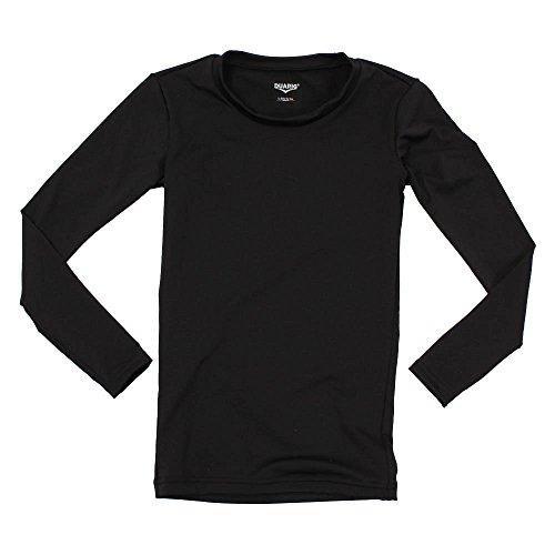感情強要砂デュアリグ(デュアリグ) ジュニア ストレッチ 丸首長袖インナーシャツ 742D8ES067 BLK