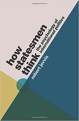 How Statesmen Think: The Psychology of International