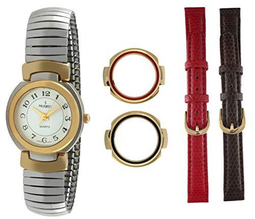 Peugeot Women's 504 Two-tone Extra Strap & Bezel Gift Set Watch