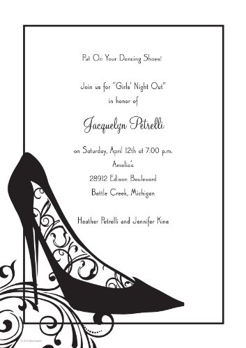 Hortense B. Hewitt 40/50 Count Black Stiletto Varnished Invitation and Glitter Thank You Note Card Invitation Kit