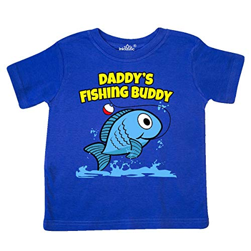 Daddy Toddler T-shirt - inktastic - Daddy's Fishing Buddy (Blue) Toddler T-Shirt 3T Royal Blue 1d49f