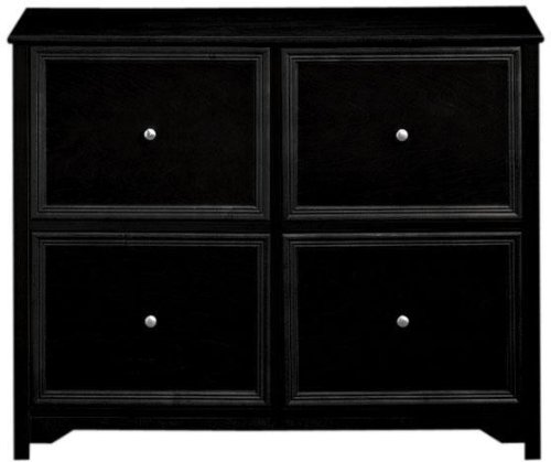 Oxford 37 Inch Black Four Drawer File Cabinet, 4-DRWR CHEST, BLACK