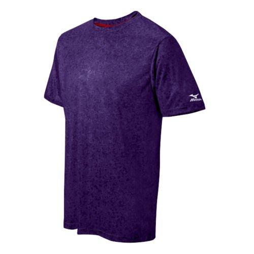 Mizuno デジ 迷彩 Tシャツ B0149FVO1K Medium|パープル パープル Medium