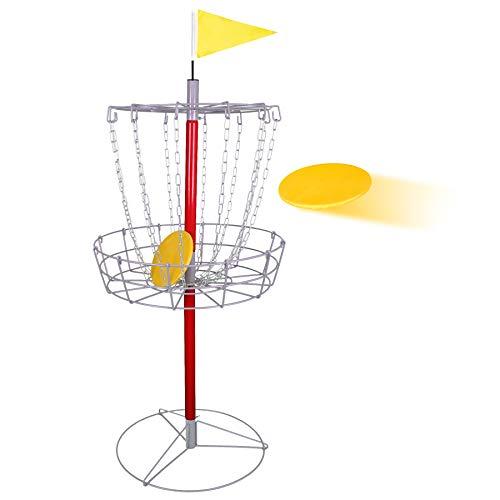 Nova Microdermabrasion 12 Chain Portable Disc Golf Basket Practice Target Steel Disc Golf Goals